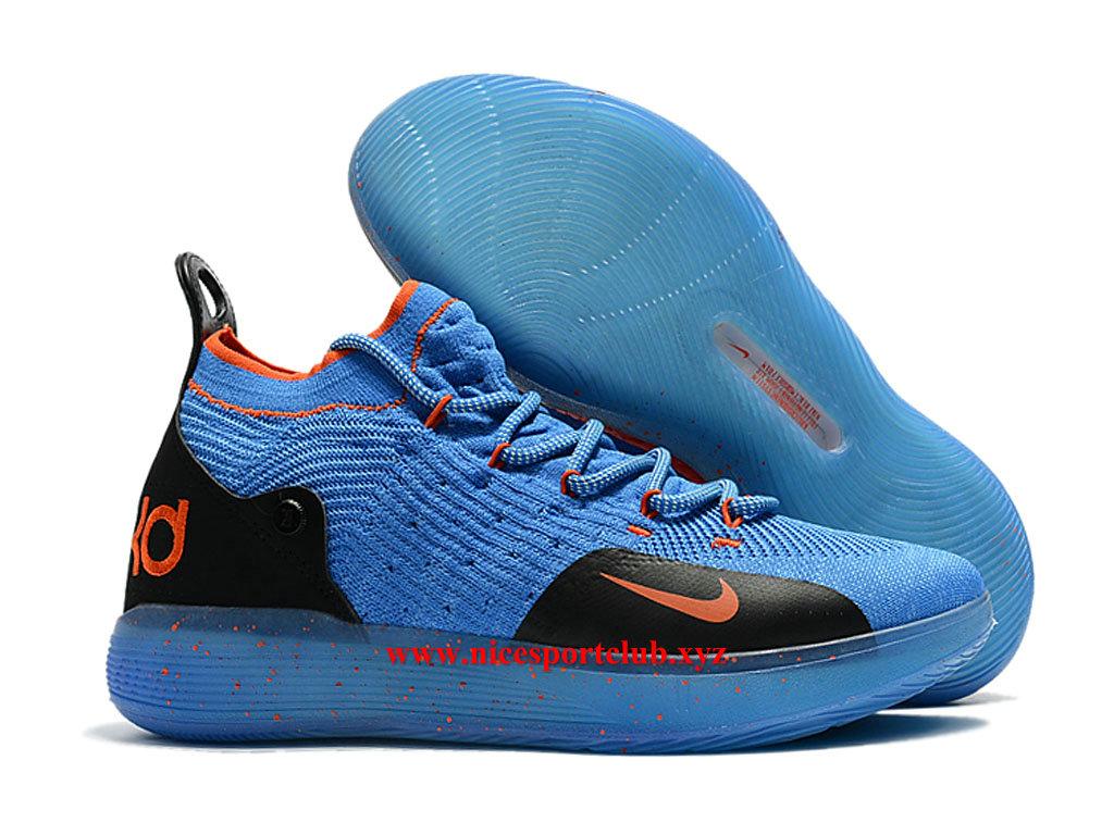 Chaussures BasketBall Homme Nike KD 11 ID Prix Pas Cher Bleu