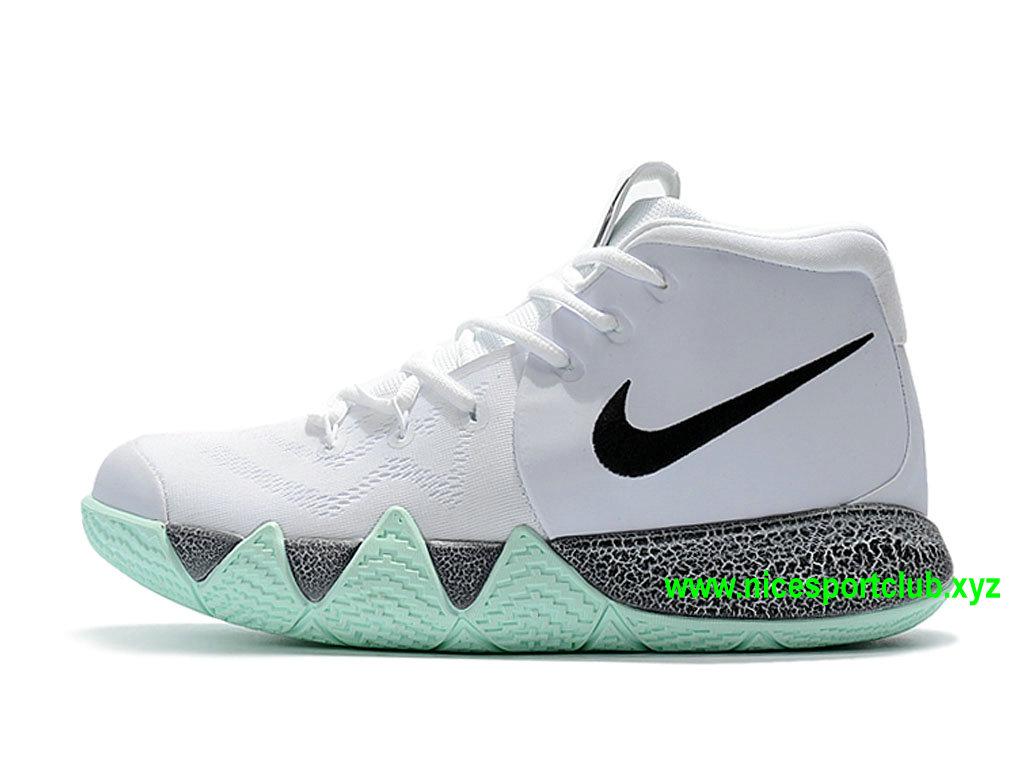 97d95feb9559a Chaussures BasketBall Nike Kyrie 4 ID Homme Prix Pas Cher Blanc Noir Gris