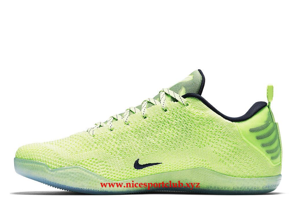 on sale 8eaf0 e8667 ... top quality chaussures de basketball homme nike kobe 11 elite 4kb prix  pas cher vert noir