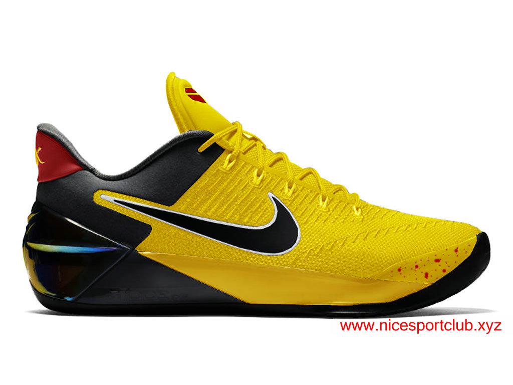 Chaussures De BasketBall Nike Kobe A.D. Bruce Lee Homme Pas Cher NoirJauneRouge 852425_A400