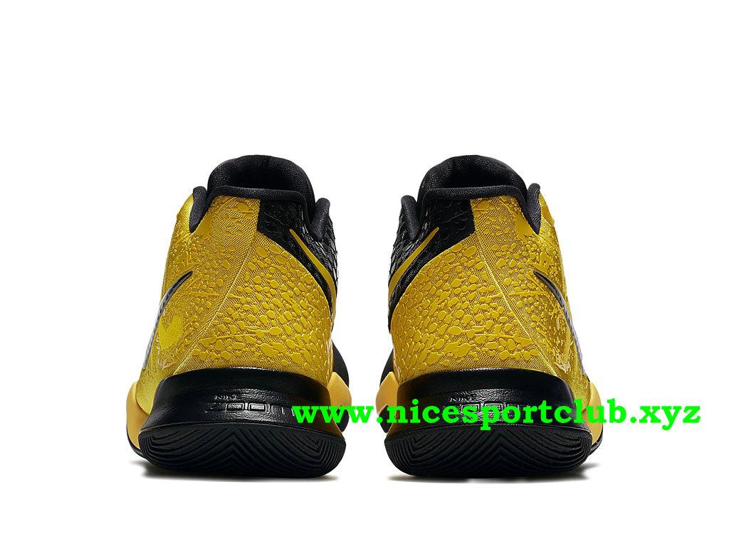 hot sale online e767f 43e1b ... Chaussures De BasketBall Nike Kyrie 3 Bruce Lee Prix Pas Cher Pour Homme  Jaune Noir ...