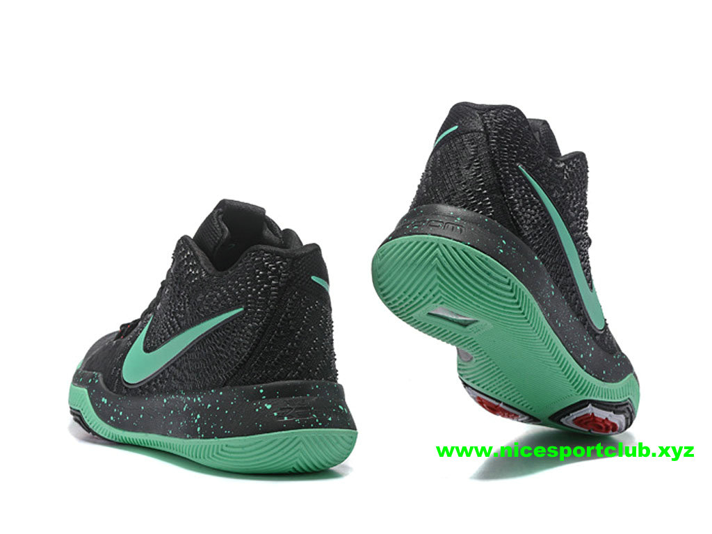 8c232538027b9 ... Chaussures De BasketBall Nike Kyrie 3 ID Prix Homme Pas Cher Noir Vert  852395 I007