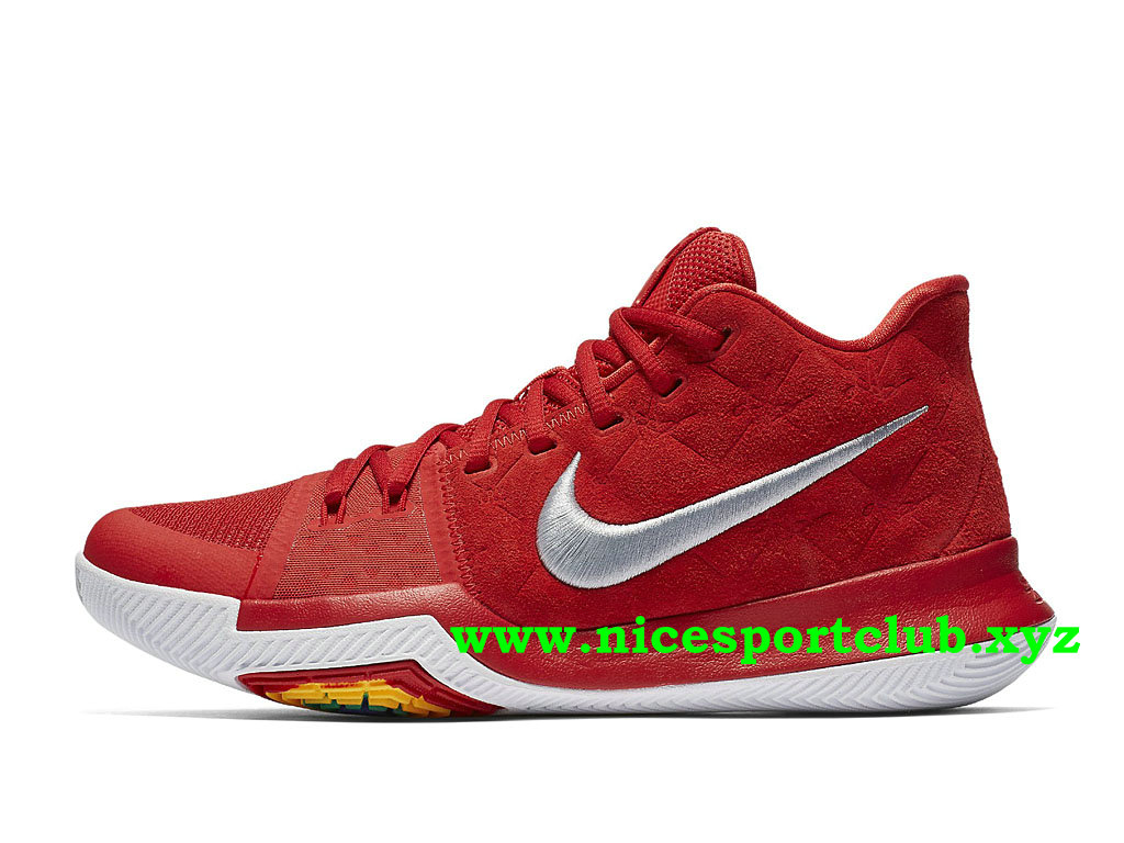 Chaussures De BasketBall Nike Kyrie 3 Prix Pas Cher Pour Homme University Red 852395_601