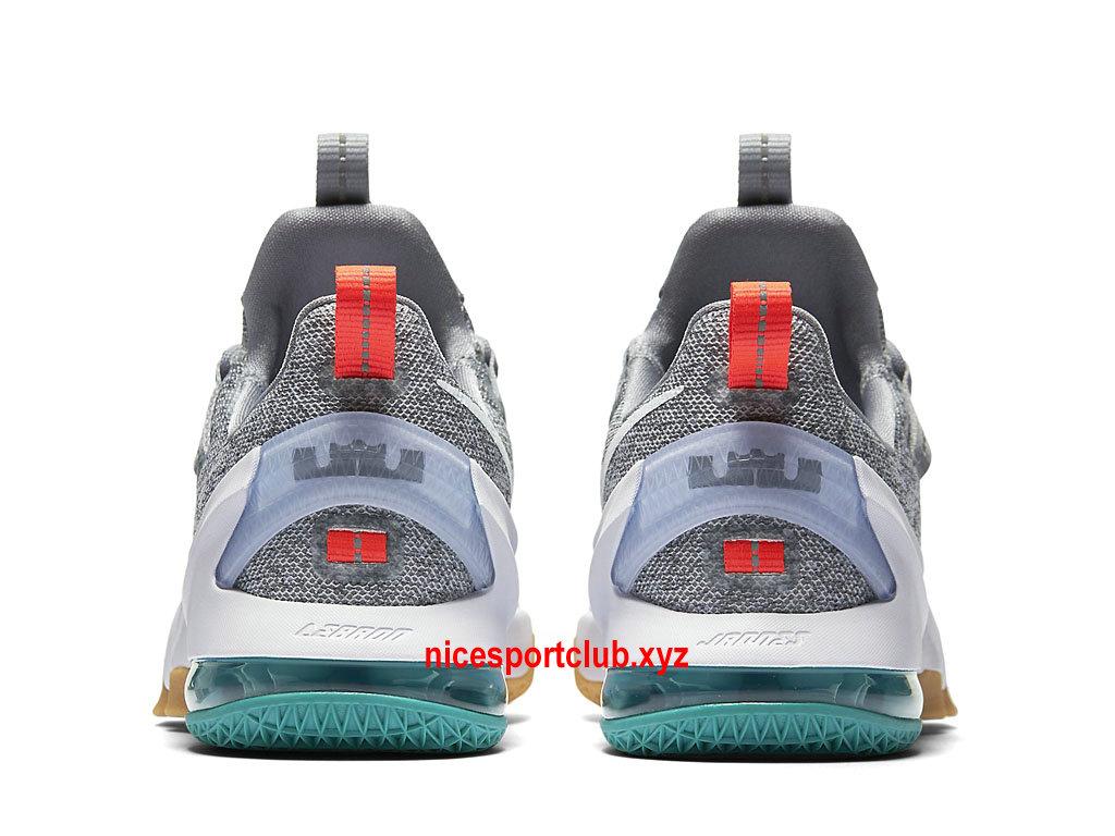 Chaussures De BasketBall Nike LeBron 13 Low Prix Homme Pas Cher GrisBlanc
