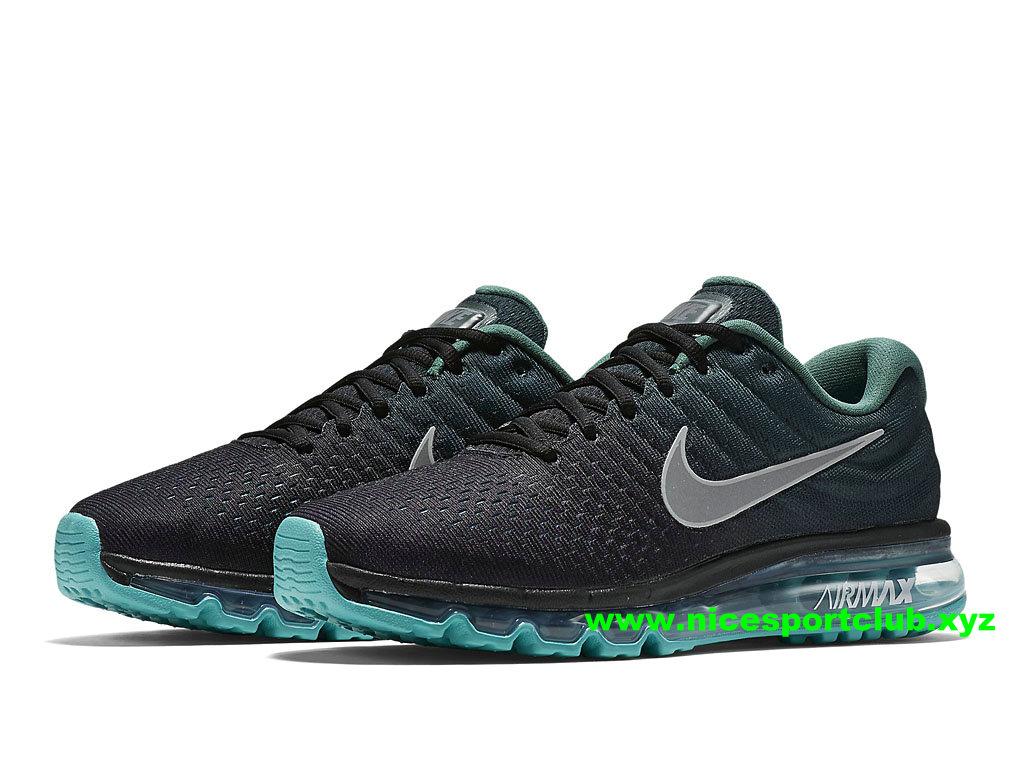 separation shoes 7df9f e5665 ... Chaussures De Running Homme Nike Air Max 2017 Pas Cher NOir Vert Gris  ...