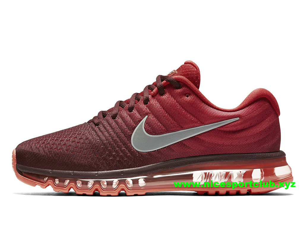 Chaussures De Running Homme Nike Air Max 2017 Pas Cher Rouge