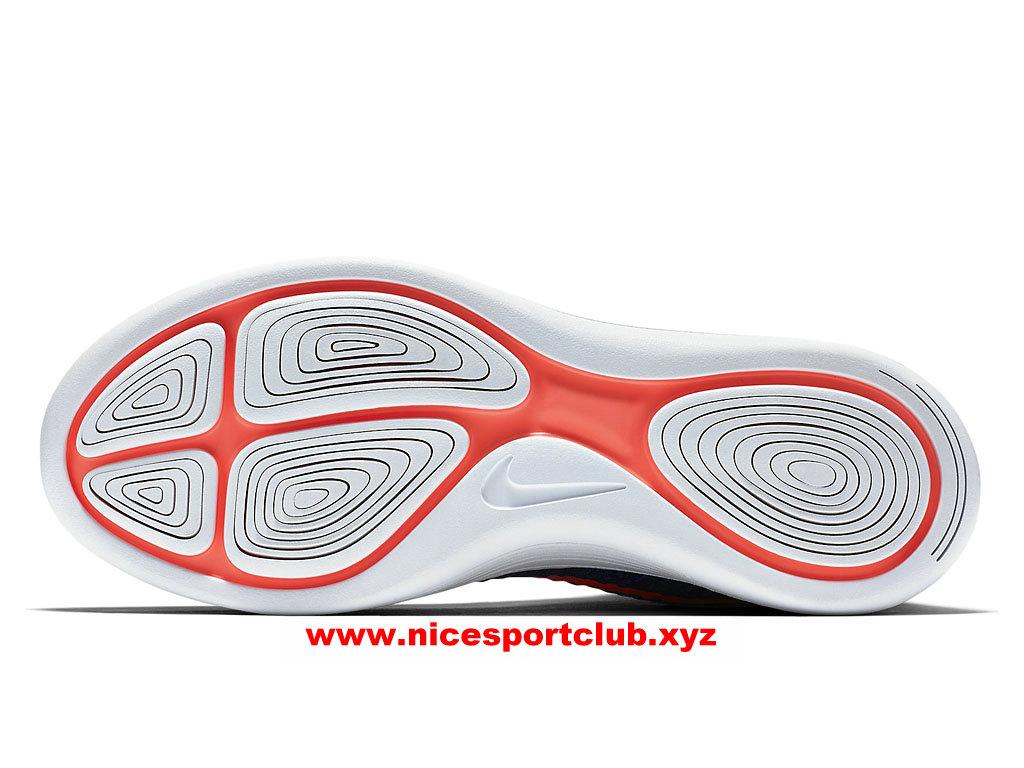low priced f6f84 4f9df ... Chaussures De Running Homme Nike LunarEpic Flyknit Prix Pas Cher  Bleu Orange Blanc