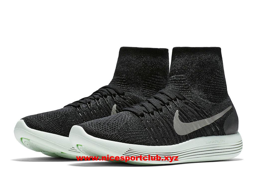 the latest 615d1 2360a ... Chaussures De Running Homme Nike LunarEpic Flyknit Prix Pas Cher NOir  Blanc ...
