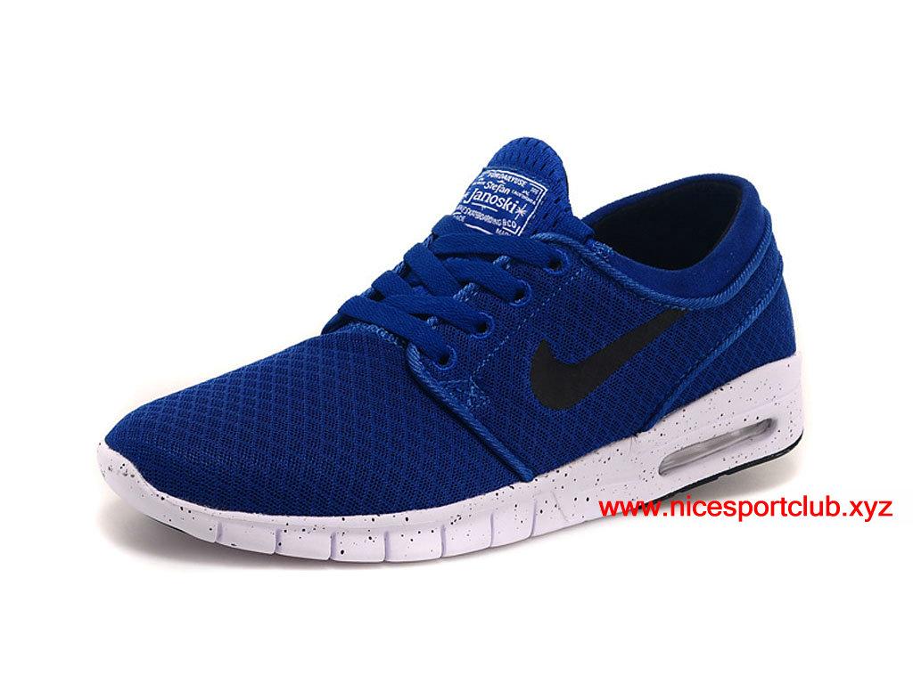 sale retailer 2cd5f a1a3c ... Chaussures De Running Nike SB Stefan Janoski Max Prix Homme Pas Cher  Bleu Noir 685299 ...