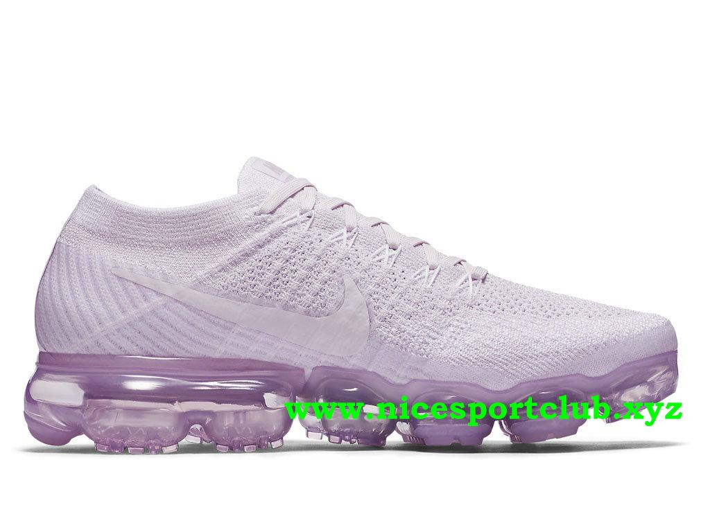 Chaussures Femme Pas Cher Nike Air VaporMax Flyknit Prix Light Violet 849557 501