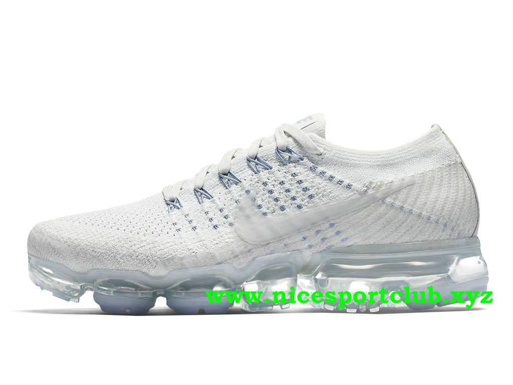 Chaussures Femme Pas Cher Nike Air VaporMax Flyknit Prix White Blue 899472_002