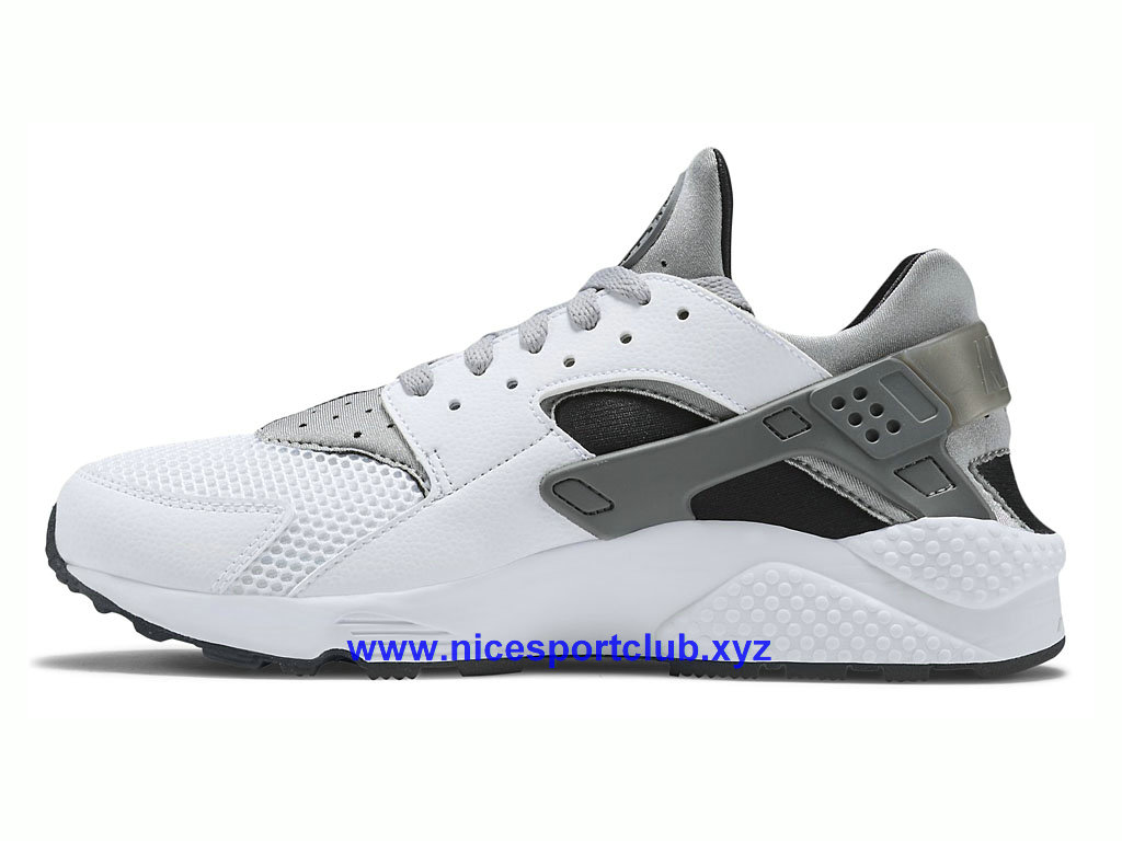 Chaussures Homme Nike Air Huarache Sport Pas Cher BlancGrisArgent 318429 101