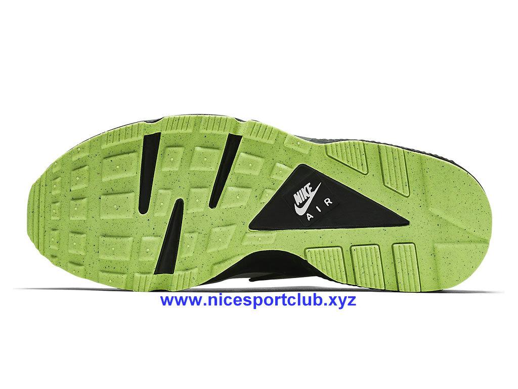 reputable site d83ea d5d02 ... Chaussures Homme Nike Air Huarache Sport Pas Cher GrisNoirVert  318429-019 ...