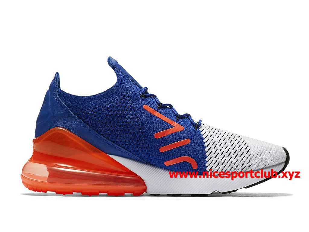 Chaussures Homme Nike Air Max 270 Flyknit Casual Prix Pas Cher BleuBlancNoirRouge AO1023_101