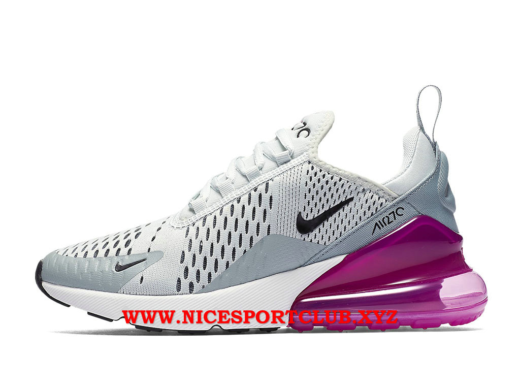 Chaussures Nike Air Max 270 Femme Pas Cher Prix Gris/Blanc ...