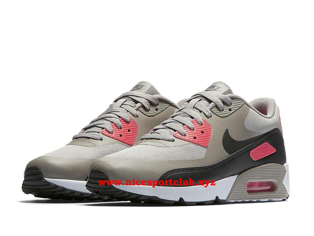 ... Chaussures Nike Air Max 90 Ultra 2.0 Essential Homme Prix Pas Cher Noir  Gris  ... bd6da1be20d1