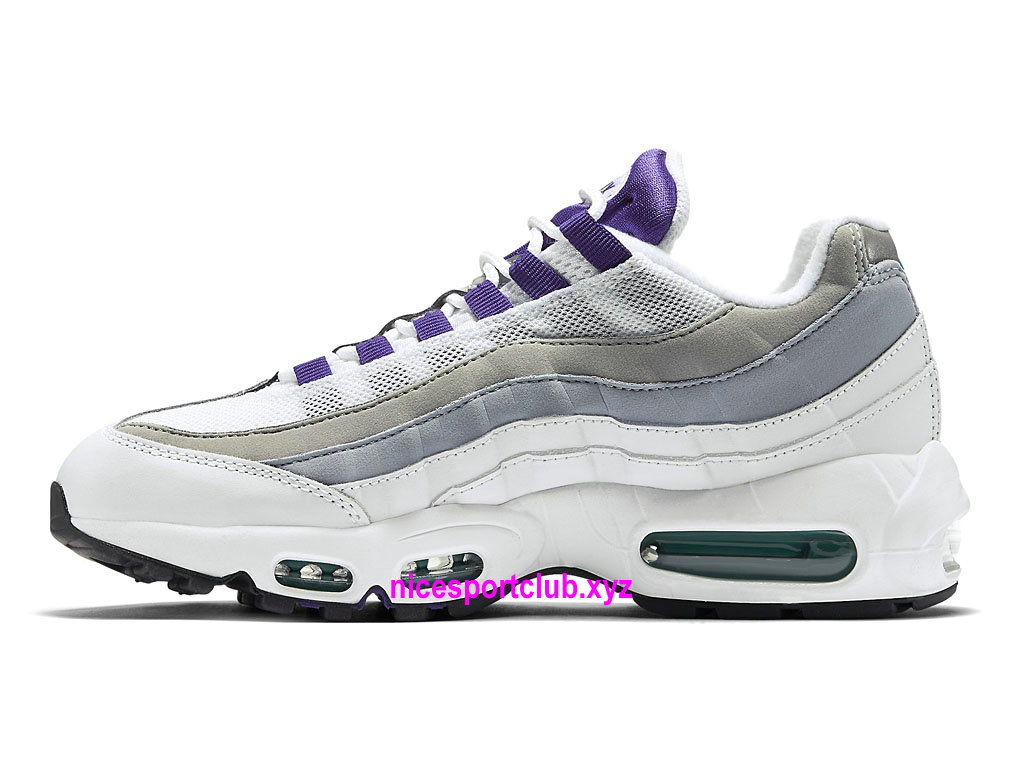 low priced c792a 21c4b ... Chaussures Nike Air Max 95 OG Prix BasketBall Pas Cher Pour Femme Blanc  Pourpre  ...
