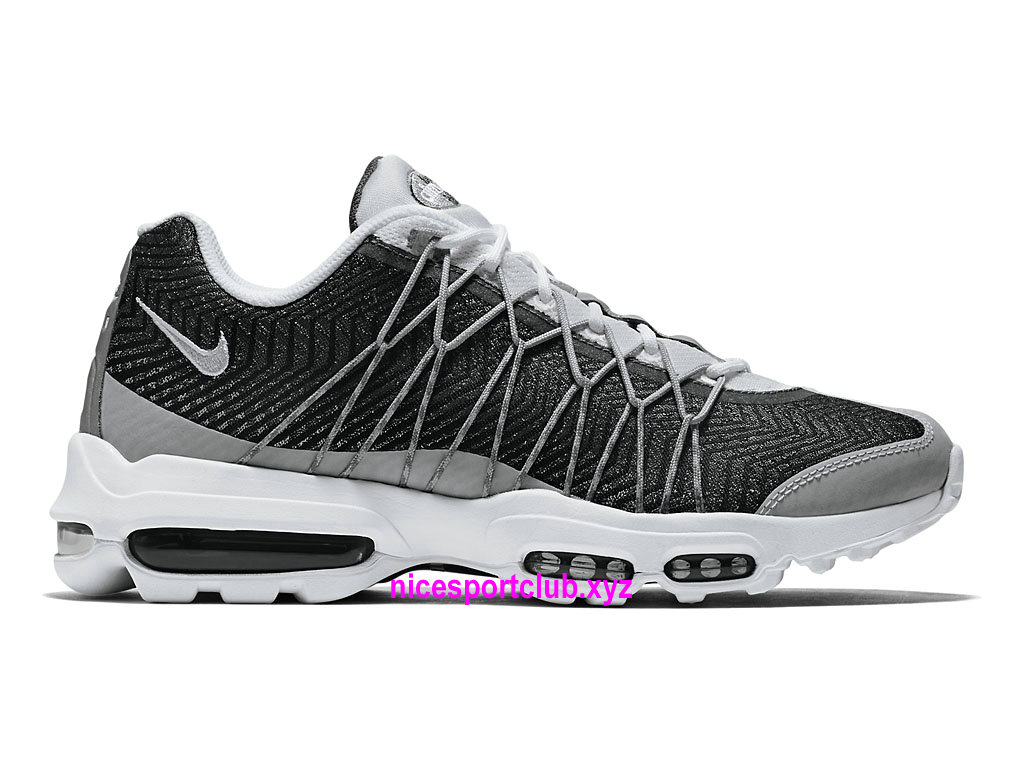 Chaussures Nike Air Max 95 Ultra Jacquard Prix BasketBall Pas Cher Pour Femme GrisNoirBlanc