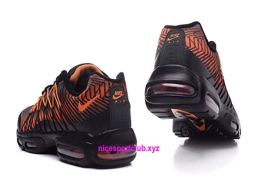 Chaussures Nike Air Max 95 Ultra Jacquard Prix BasketBall Pas Cher Pour Femme NoirOrangeNoir