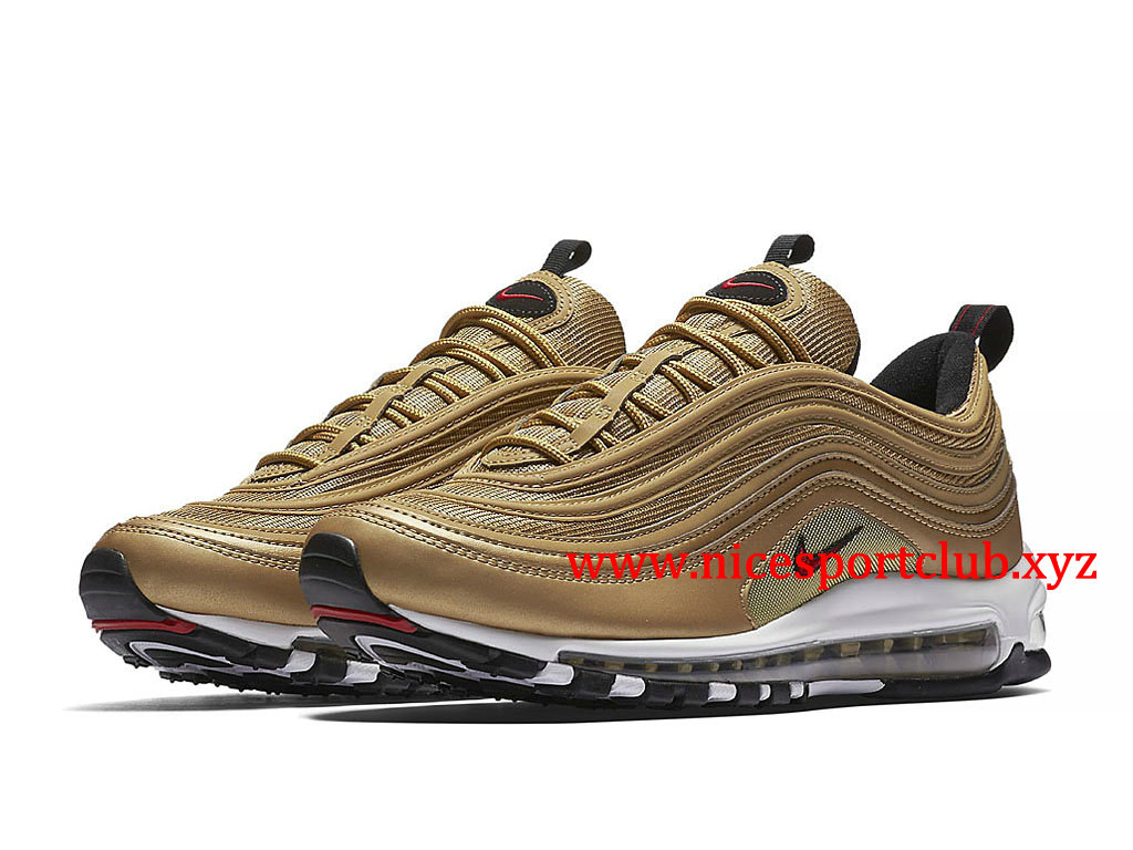 377c519ca7ef0 ... Chaussures Nike Air Max 97 Femme Pas Cher Prix Metallic Gold 884421 700  ...
