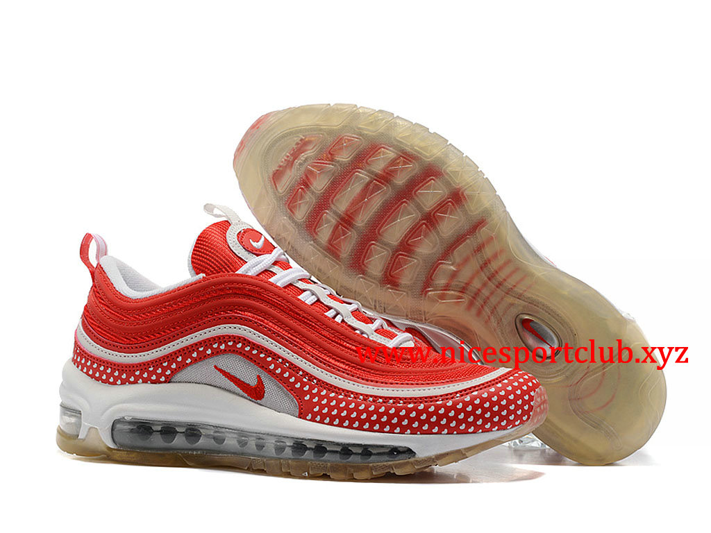 Chaussures Nike Air Max 97 Femme Pas Cher Prix Rouge Blanc 312834_ID004