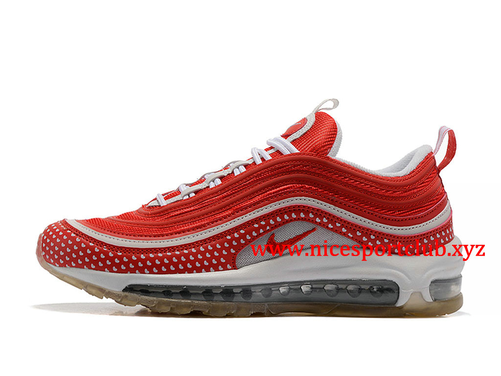 Chaussures Nike Air Max 97 Femme Pas Cher Prix Rouge Blanc ...