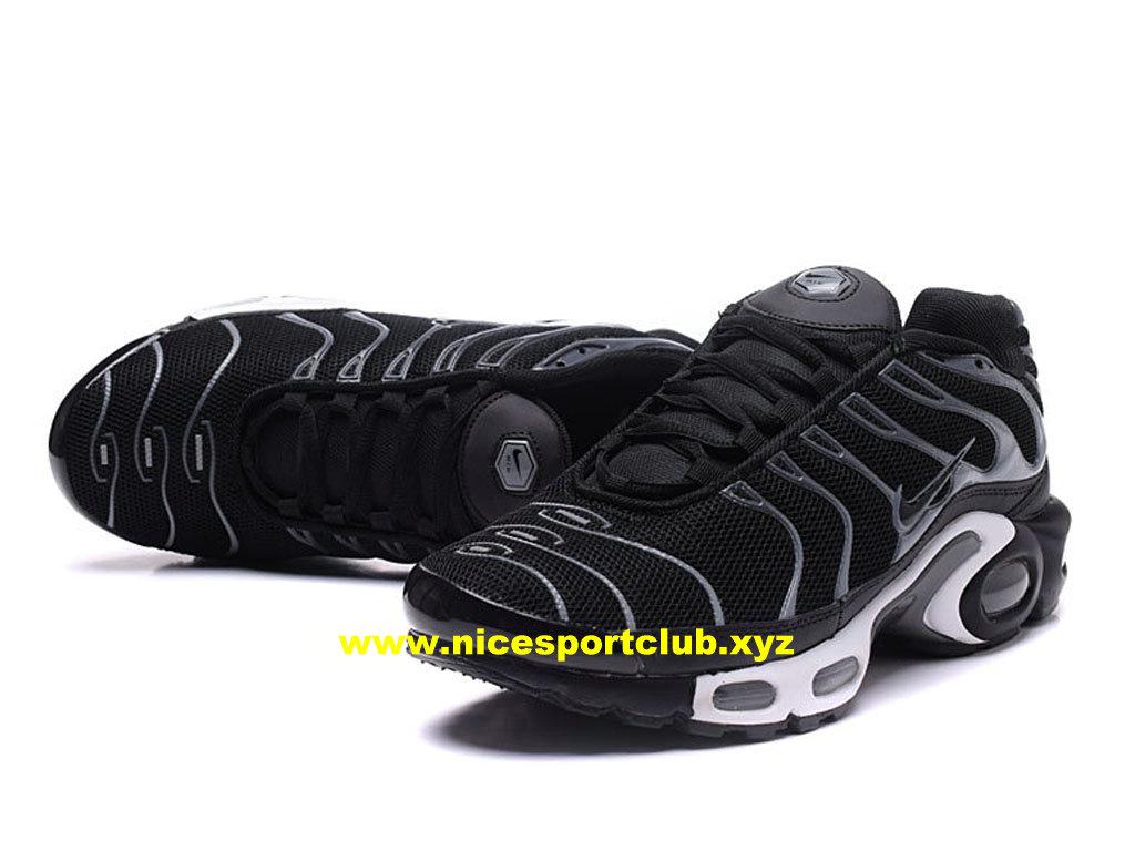 Chaussures Nike Air Max Plus TN Homme Prix Pas Cher NoirGrisBlanc