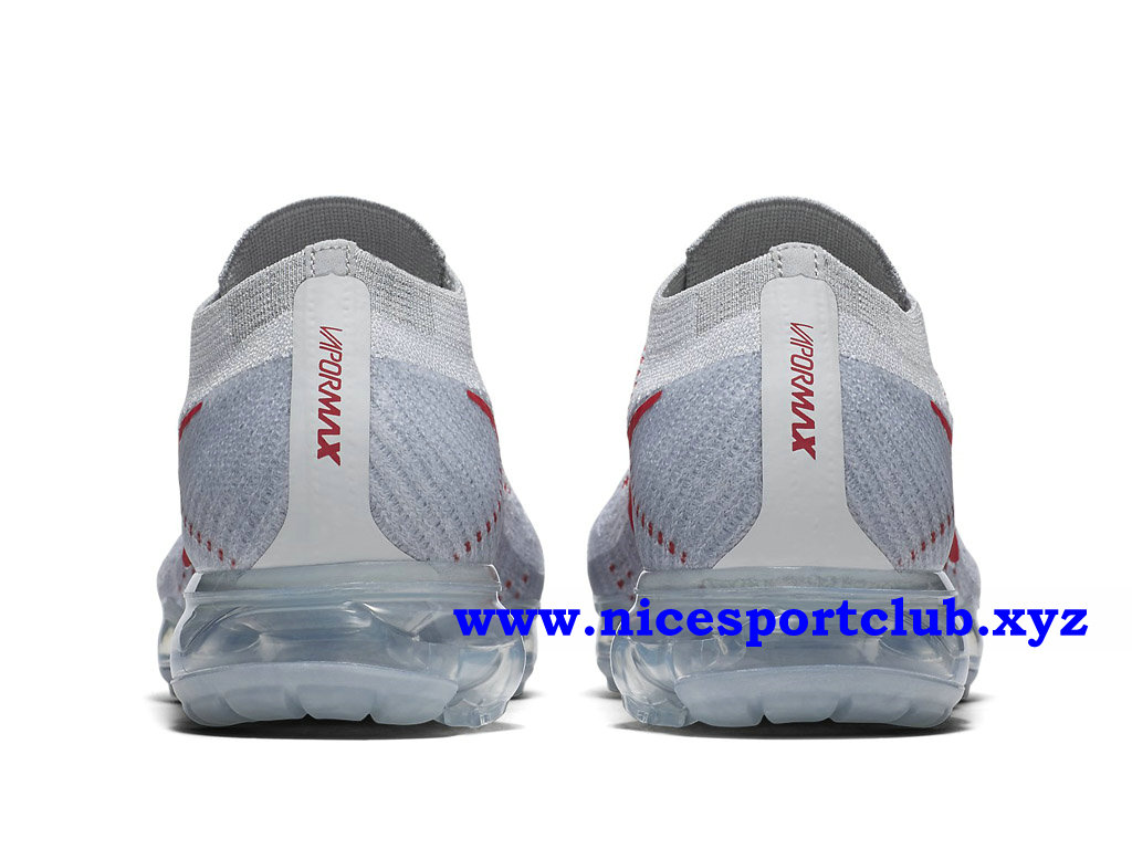 Chaussures Nike Air VaporMax Flyknit Homme Pas Cher Prix BlancRouge 849558_006
