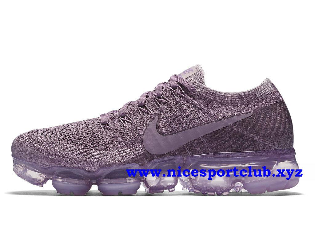 Chaussures Nike Air VaporMax Flyknit Homme Pas Cher Prix Violet Dust