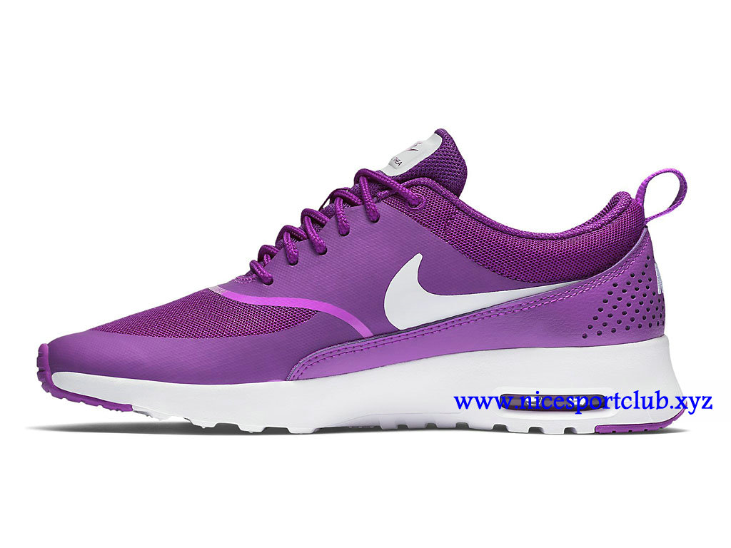 Chaussures Nike Wmns Air Max Cher Thea Prix Femme Pas Cher Max Pourpre Blanc 8dbffe