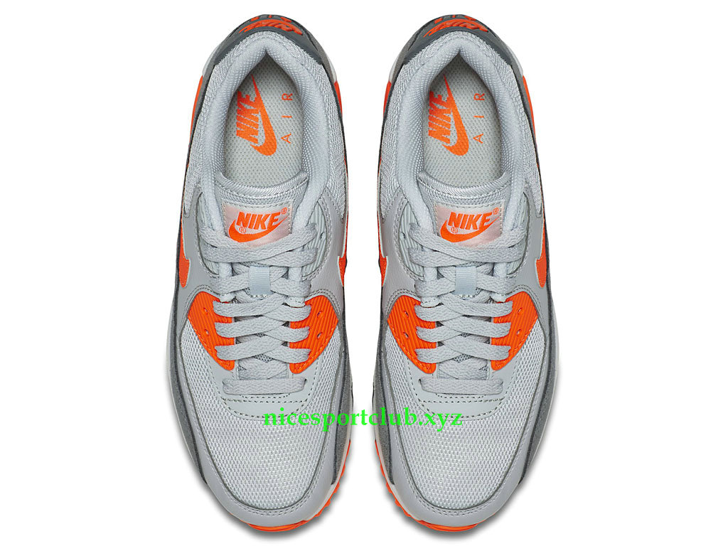 Nike Air Max 90 Essential Prix Chaussures Running Pas Cher Pour Femme GrisOrange 616730 018