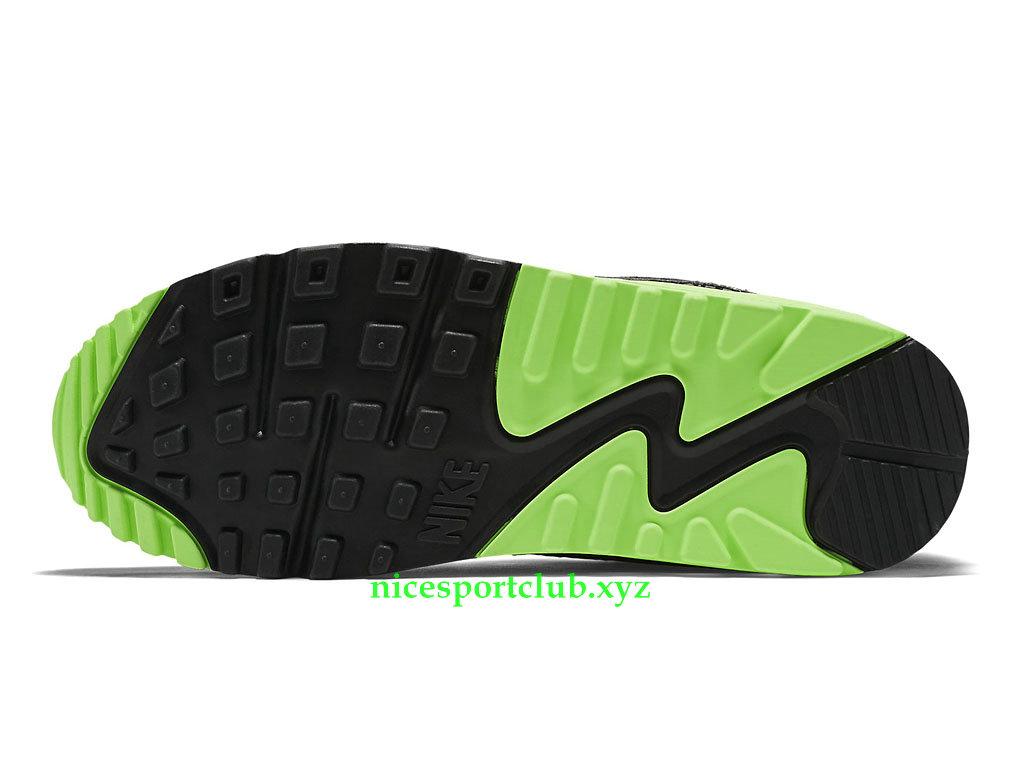 Nike Air Max 90 Essential Prix Chaussures Sport Club Pas Cher Pour Femme NoirGrisVert 616730_022