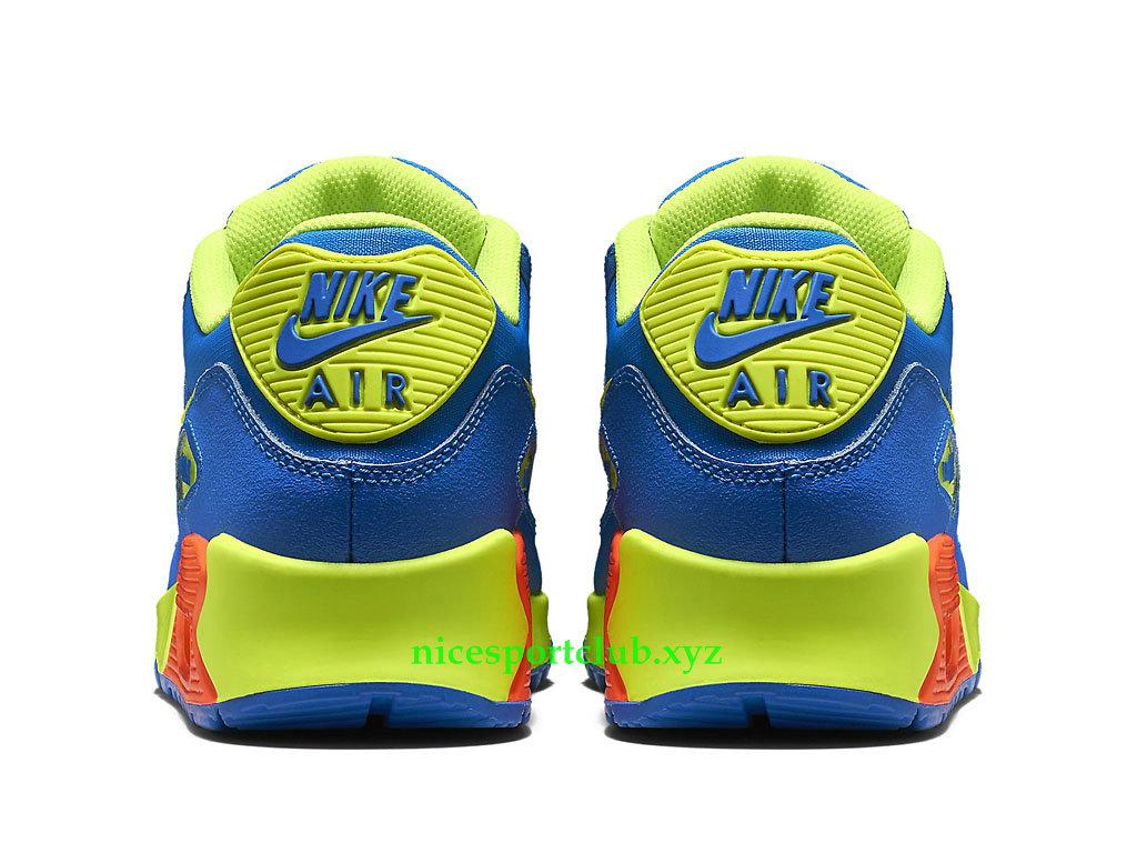 Nike Air Max 90 GS Prix Chaussures Running Pas Cher Pour Femme BleuVertOrange 307793_410