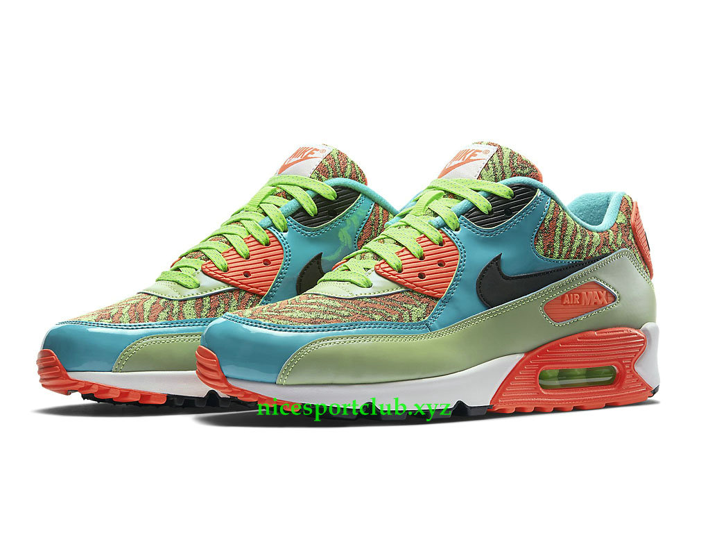 Nike Air Max 90 Prix Chaussures Running Pas Cher Pour Femme Flash Lime Jade Infrared 725235_306