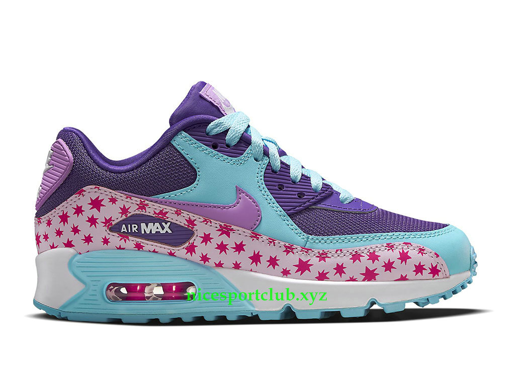 Nike Air Max 90 Prix Chaussures Running Pas Cher Pour Femme Prism Pink Blue 724875_600