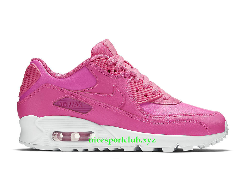 Nike Air Max 90 Prix Chaussures Running Pas Cher Pour Femme Rose 724852_600