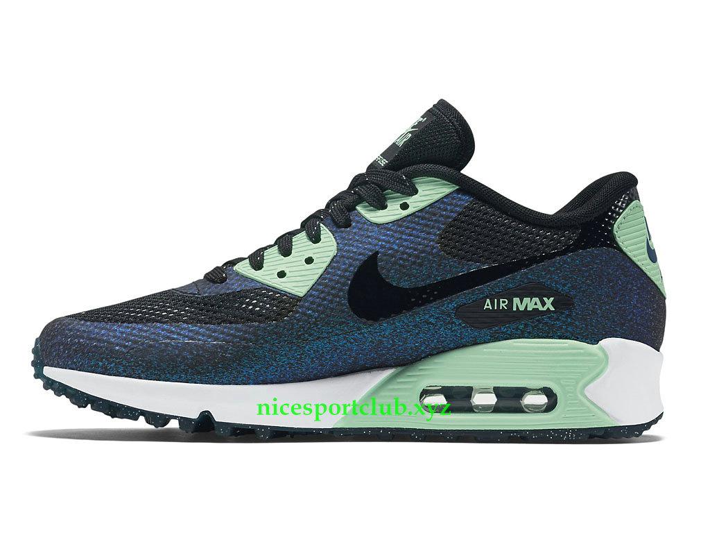 best website 522da bc414 ... Nike Air Max 90 Prix World Cup Chaussures Running Pas Cher Pour Femme  Noir Vert ...
