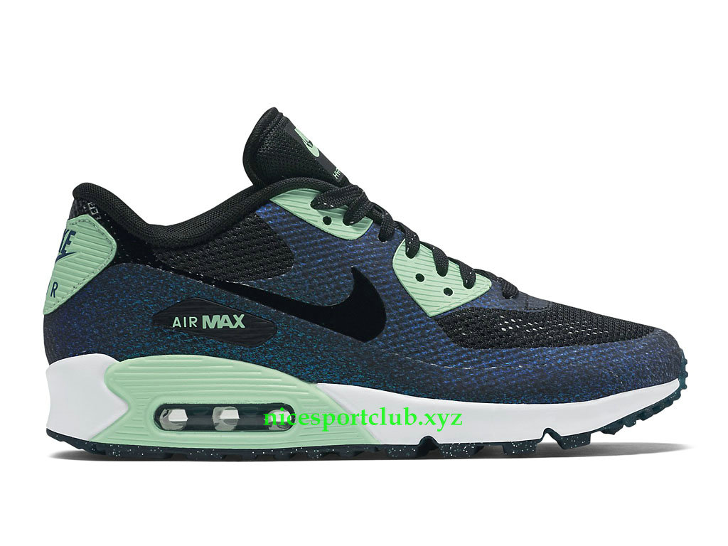 Nike Air Max 90 Prix World Cup Chaussures Running Pas Cher Pour Femme NoirVertBlanc 811165_001
