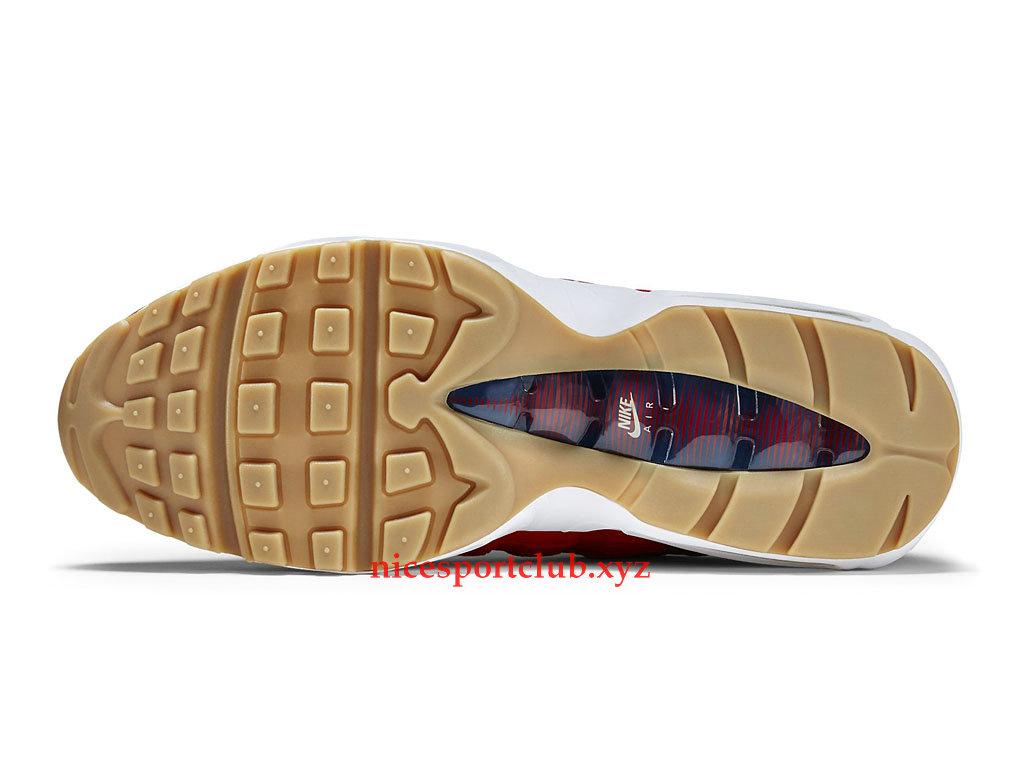 Nike Air Max 95 Premium USA Prix Officiel Nike BasketBall Chaussures Pas Cher Pour Homme RougeBlancBleu 538416_614