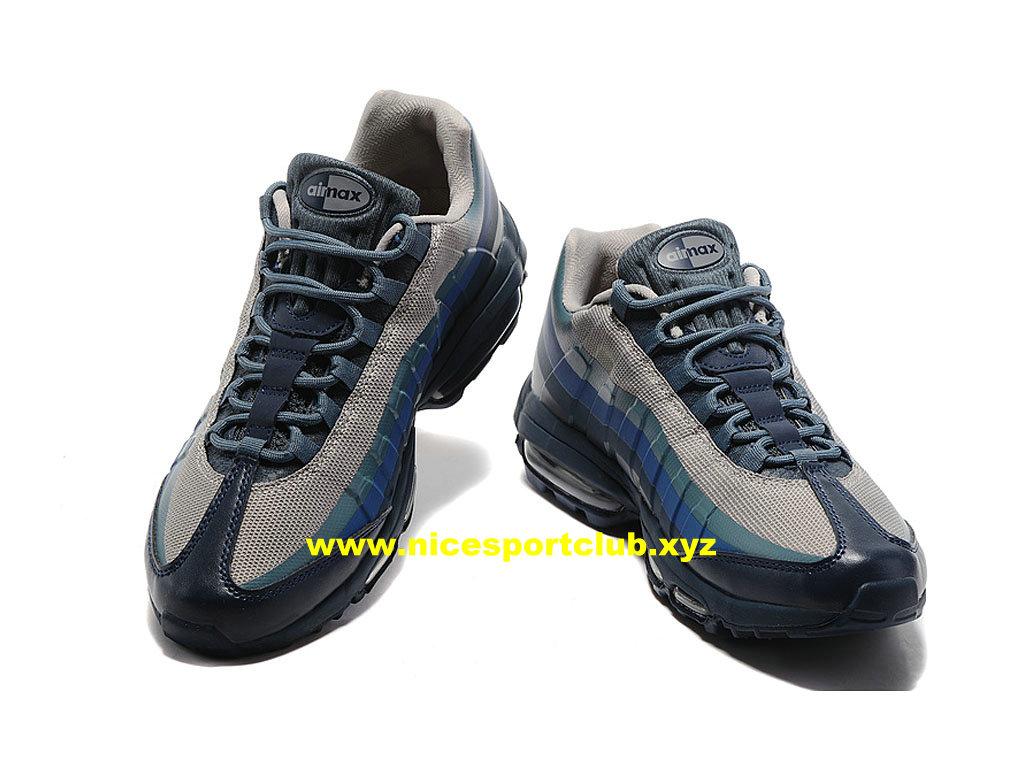 Nike Air Max 95 Ultra Essential Prix Pas Cher Chaussures Pour Homme BleuGrisVert 857910 A002