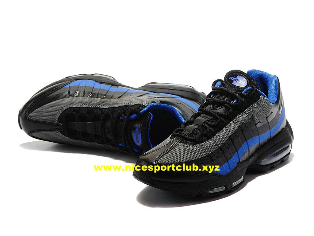 timeless design 9d65c 30aa3 ... Nike Air Max 95 Ultra Essential Prix Pas Cher Chaussures Pour Homme  Bleu Noir 857910 ...