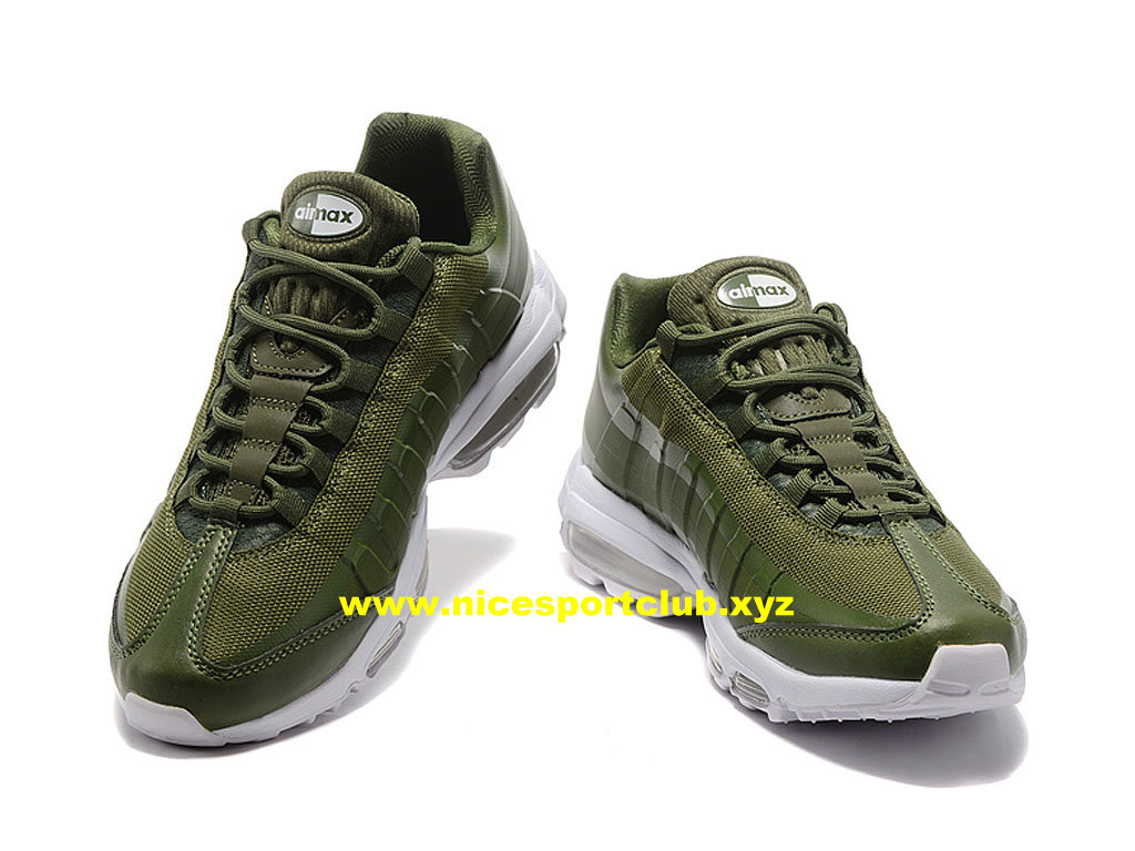 the latest d1805 b20e1 ... Nike Air Max 95 Ultra Essential Prix Pas Cher Chaussures Pour Homme  Vert Blanc 857910 ...