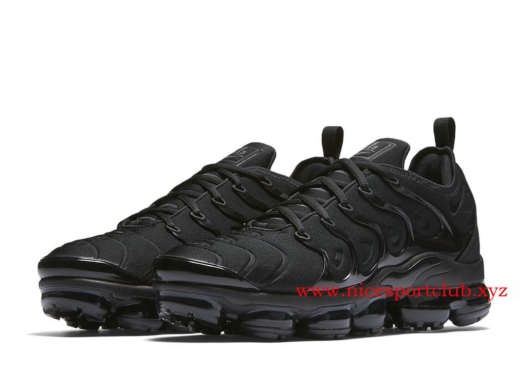 Nike Air VaporMax Plus Chaussures Pas Cher Price Pour Homme Triple Black 924453_004