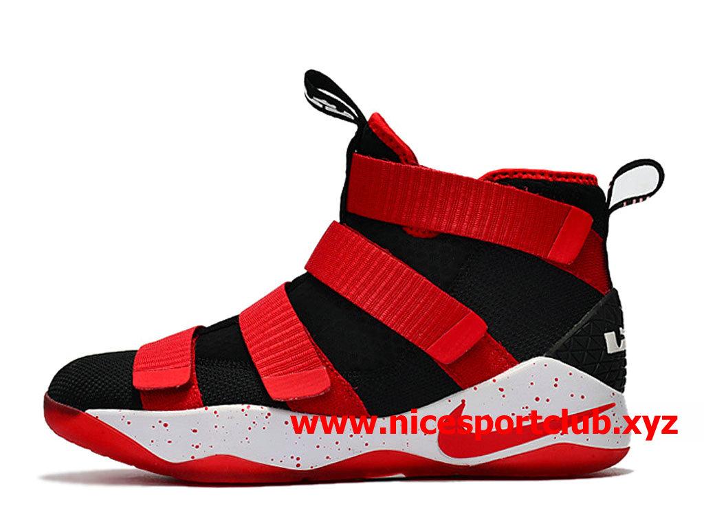 Nike LeBron 16 RougeNoirBlanc Chaussure de Basket Pas Cher