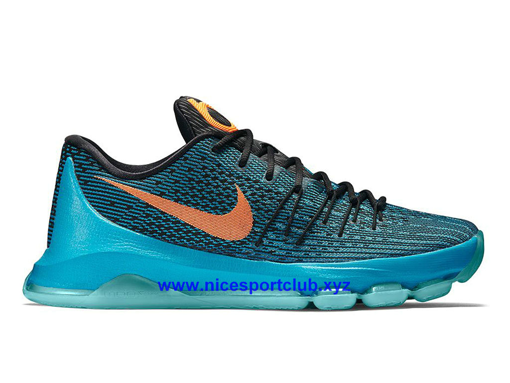 wholesale dealer 37410 8c1e6 Pas Cher Nike KD 8 Road Game Homme BasketBall Bleu/Rose/Noir 749375- ...